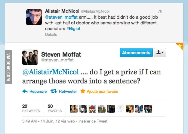 Steven Moffat being awesome