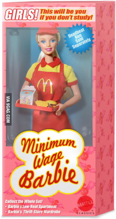 Minimum Wage Barbie