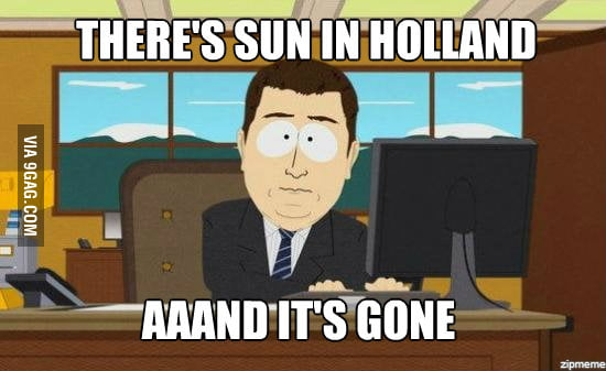 The sun in Holland nowa