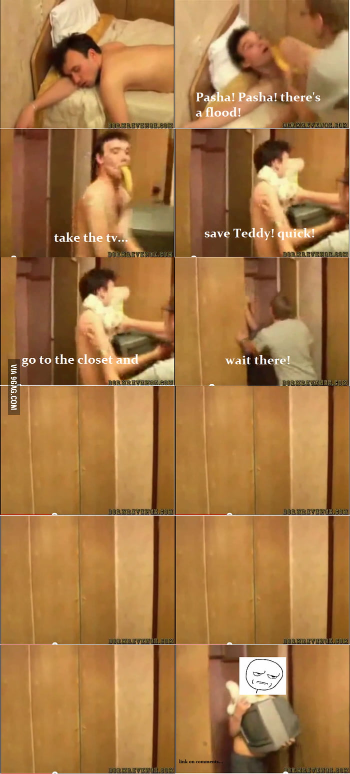 Genius Russian wake-up prank