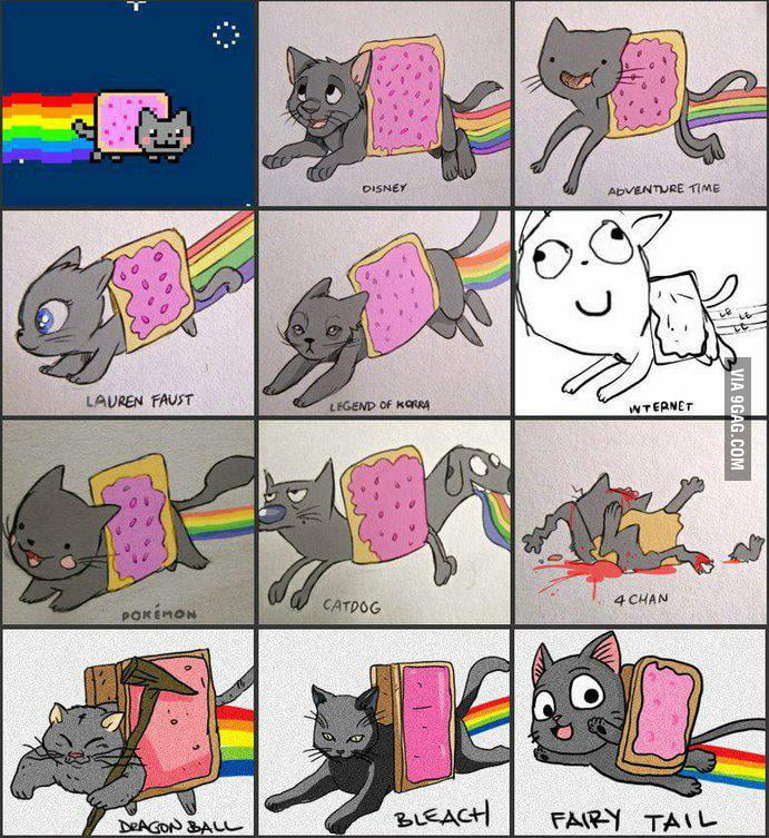 Nyan Cat in different designs