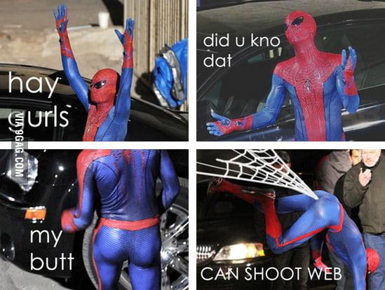Spiderman at his finest.