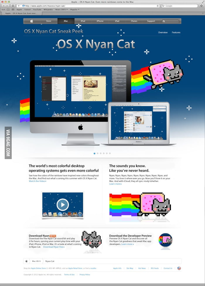 Mac OS X 10.9 Nyan Cat