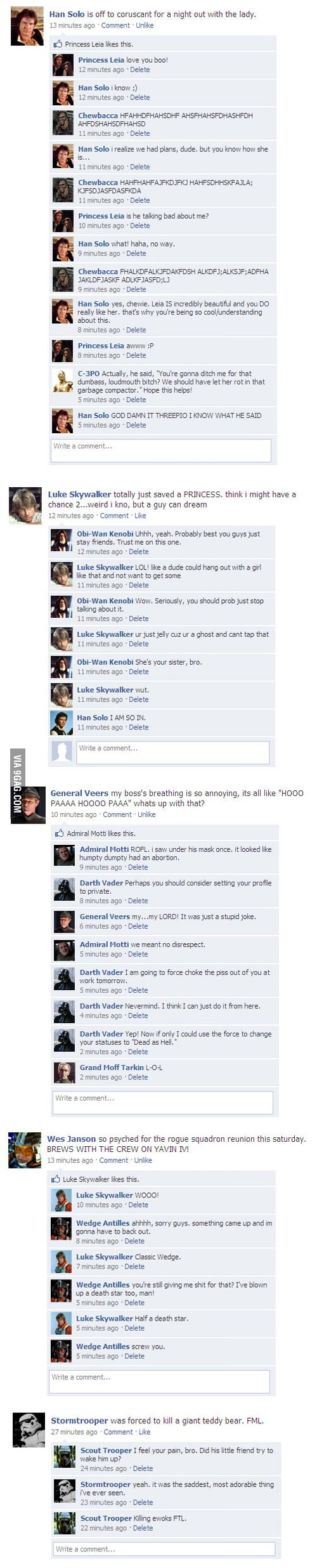 5 Star Wars Status Updates