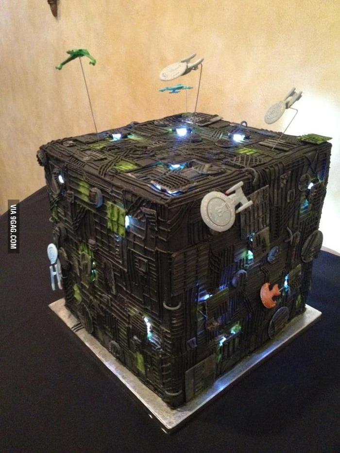 Borg Cube Wedding Cake