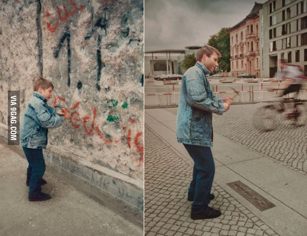 The Berlin wall, years later.