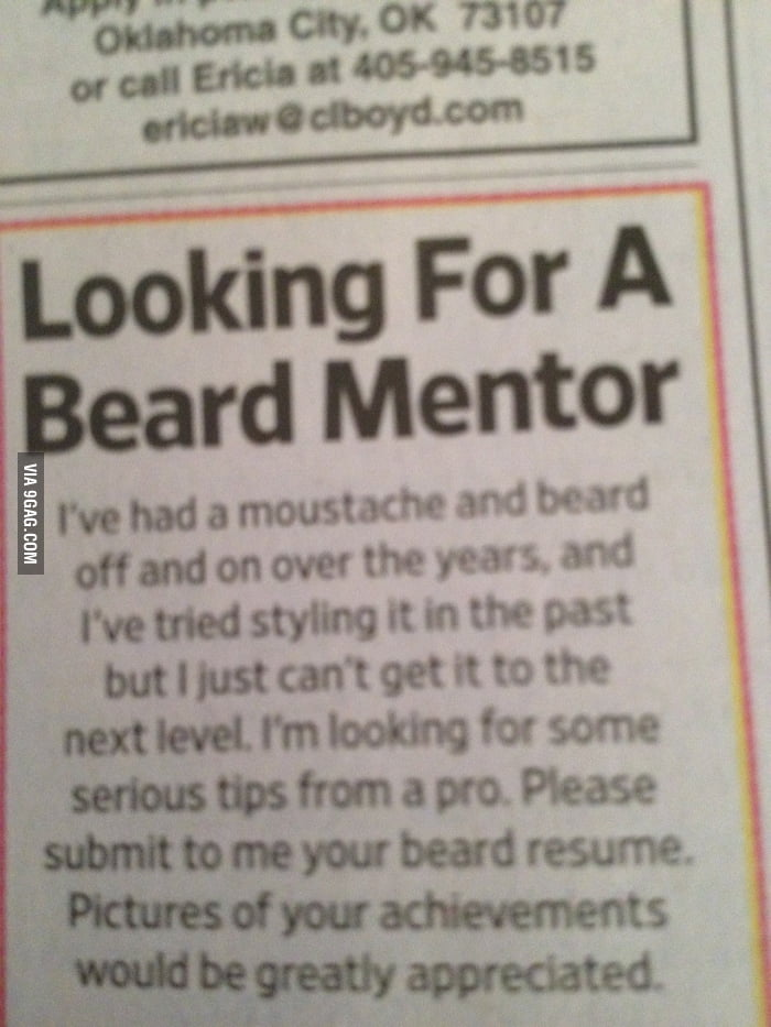 Looking For A Beard Mentor