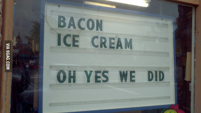 Bacon Ice Cream?