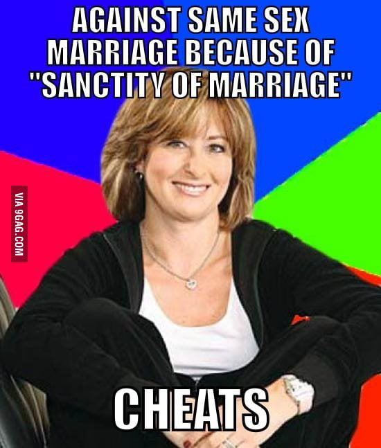 Same sex marriage.