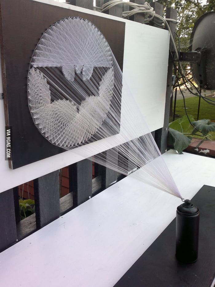 Bat Signal String Art