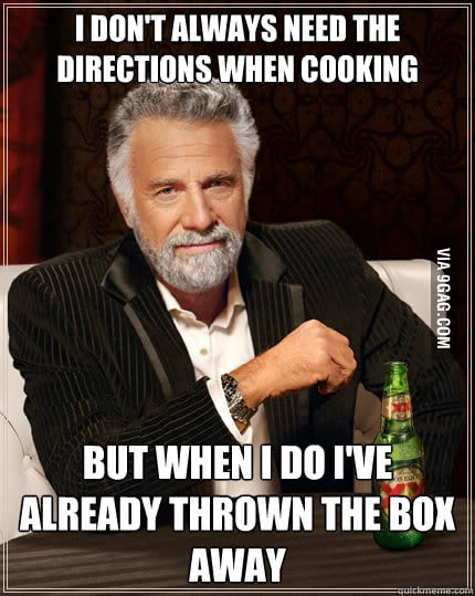 Every. Cooking. Time.