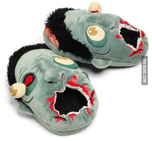 Zombie-head Slippers