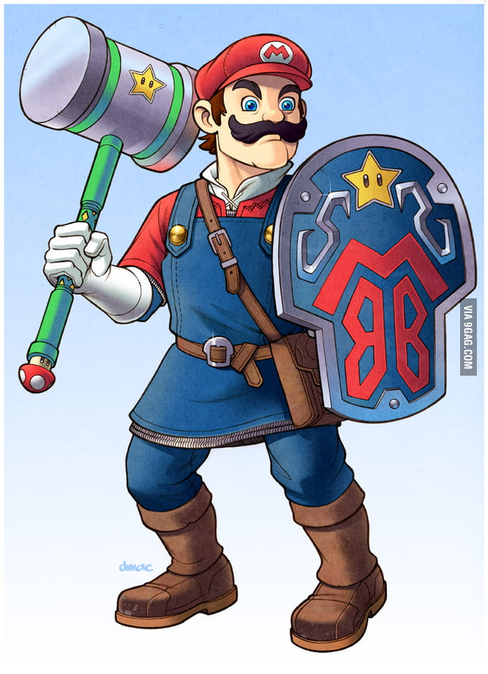 If Mario had weapons like Link