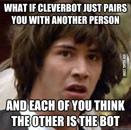 Conspiracy Keanu on Cleverbot