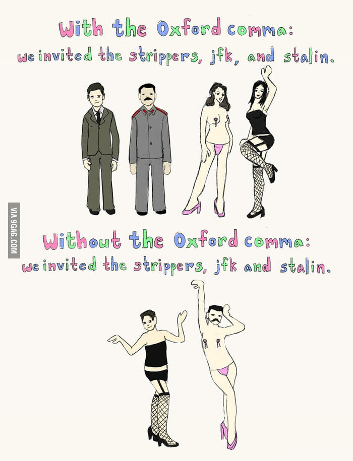 Importance of Oxford Comma