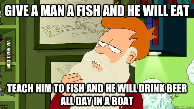 Philosophy Fry on fishing
