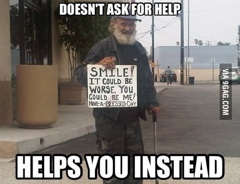 Good Homeless Guy