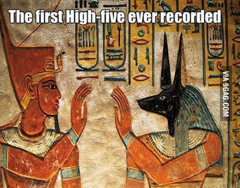 First high-five ever!