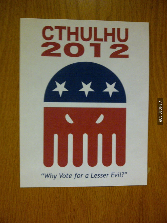 Why vote for a lesser evil?