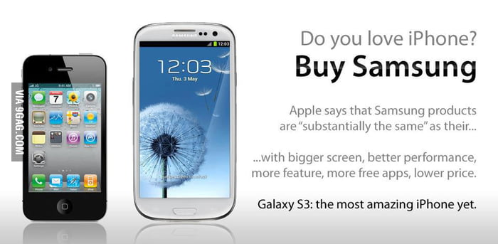 Love iPhone? Buy Samsung!