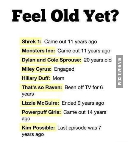 Dammit are we getting OLD...!