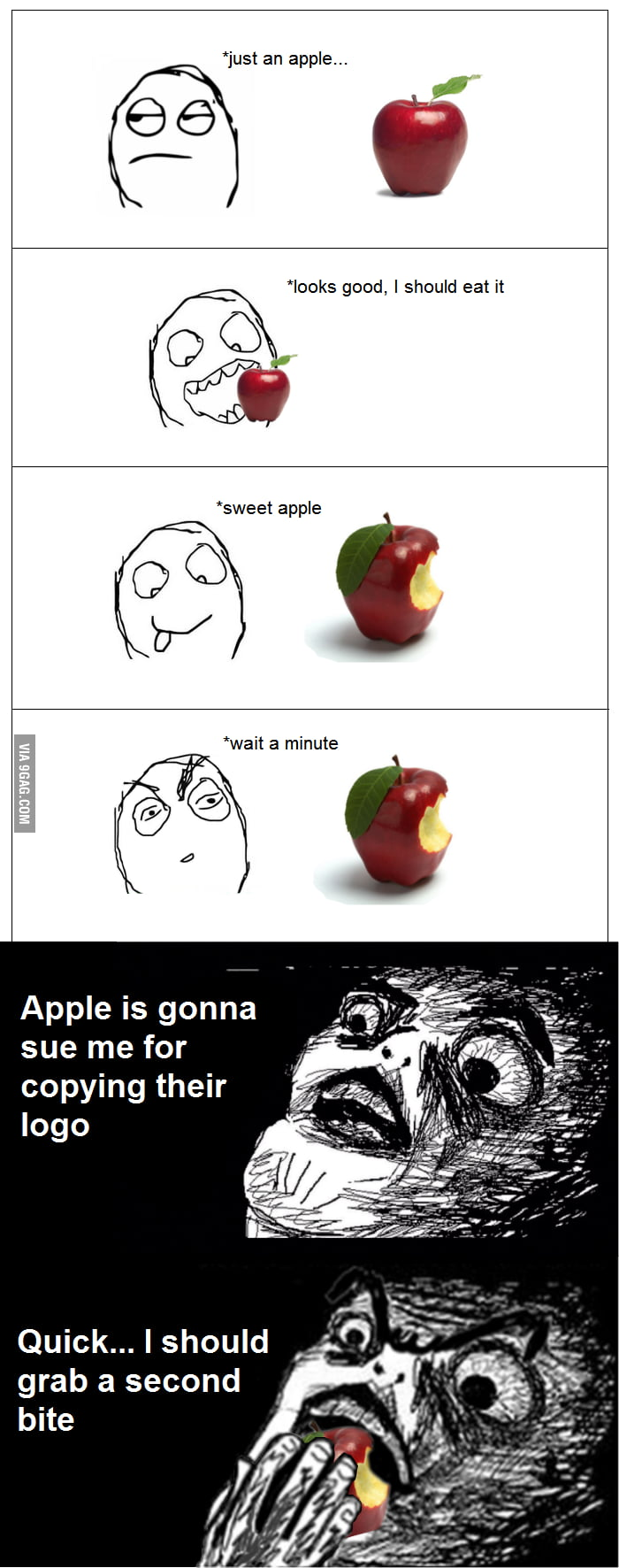 Apple logo rage