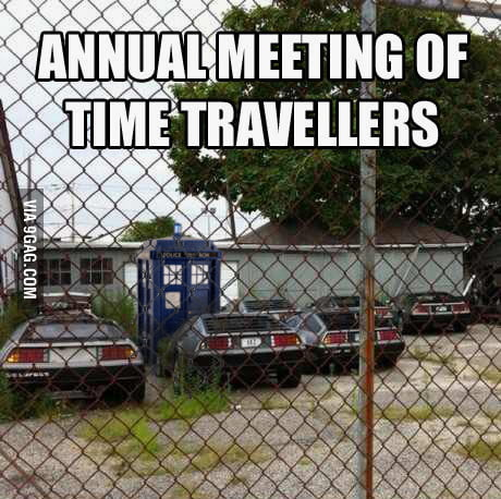 Annual meeting of time travellers