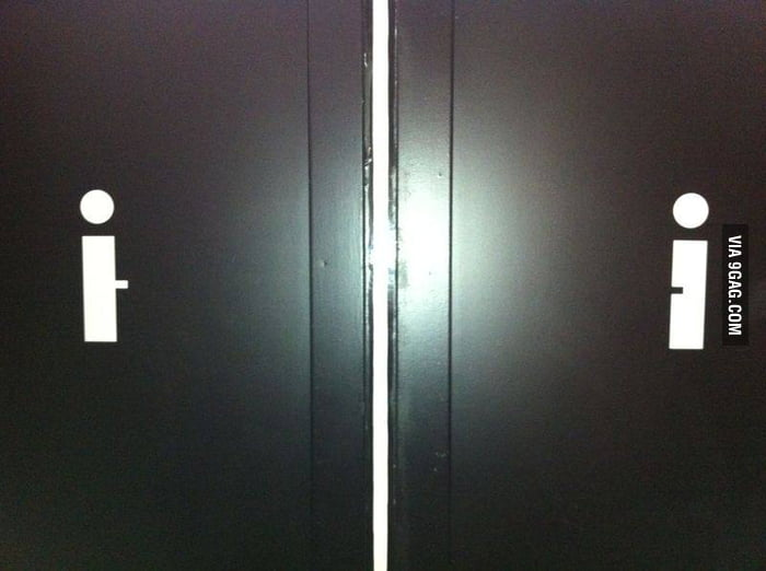 Simple Toilet Signs
