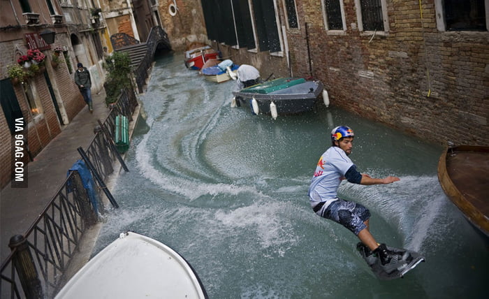 Wakeboarding in Venice.