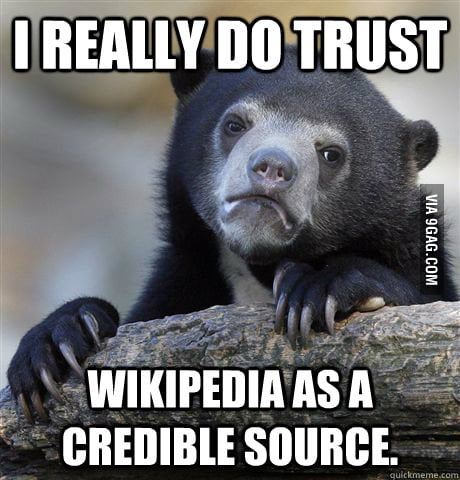 What I think about Wikipedia.