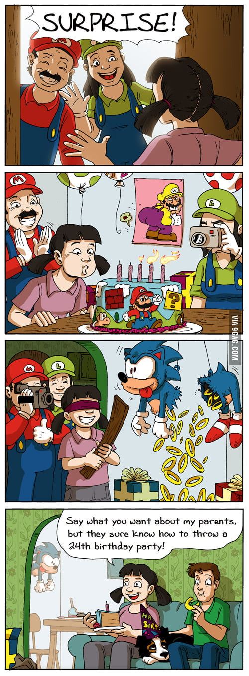 A gamer's dream birthday.