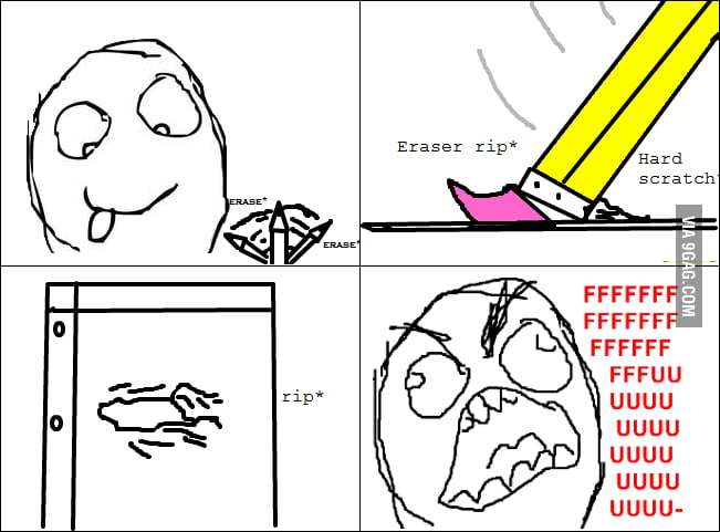 Cheap eraser rage