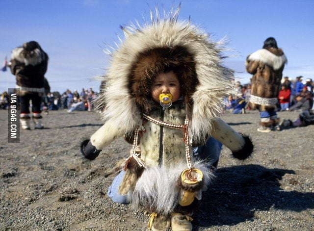 Just a little Eskimo.