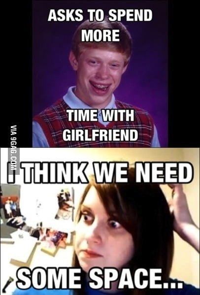Bad luck Brian gets a girlfriend.