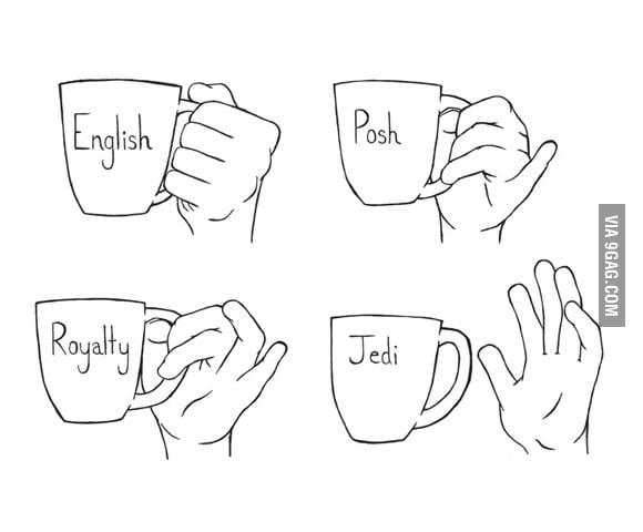 How to hold tea cups