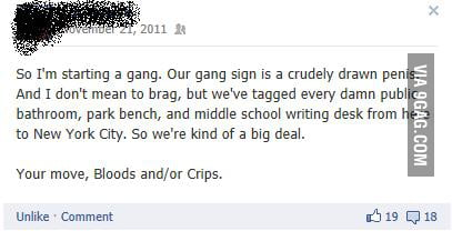 So I'm in a gang