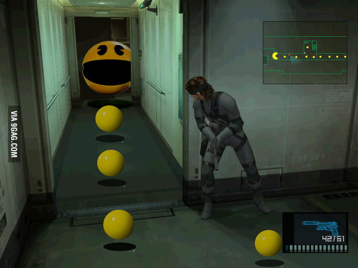 Metal Gear Solid: Pac mode.