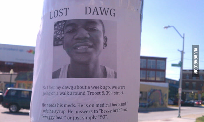 Lost my dawg