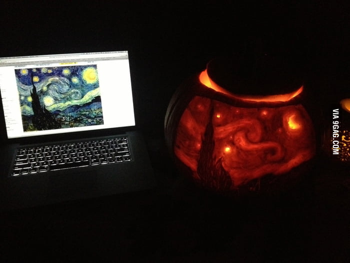 Starry Night Jack-O'-Lantern