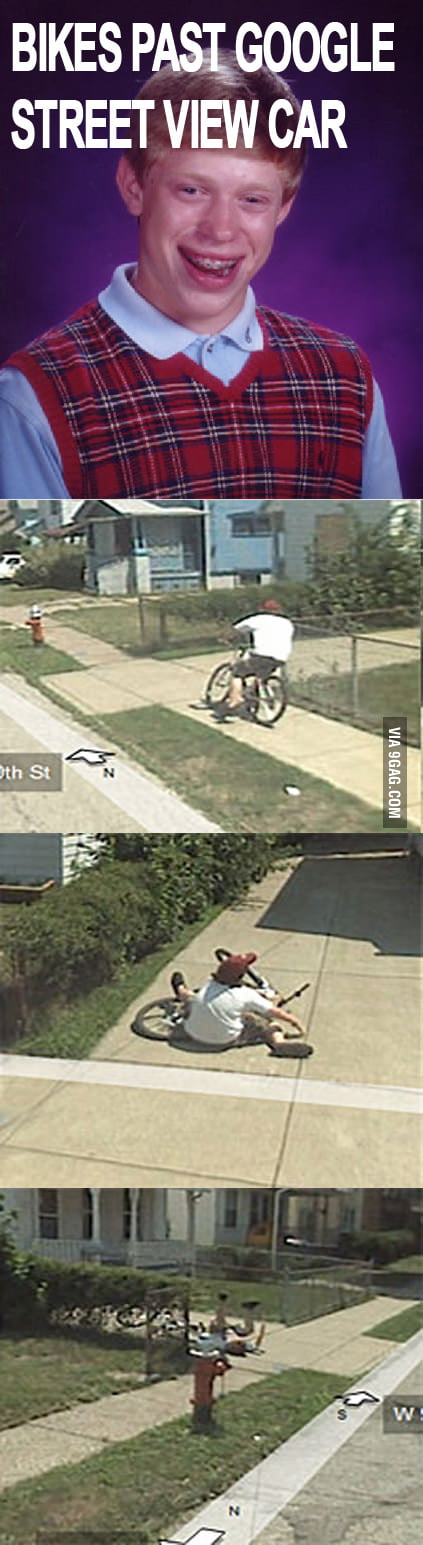 Brian bikes past Google street view