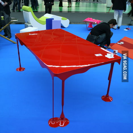 Bloody brilliant table design!