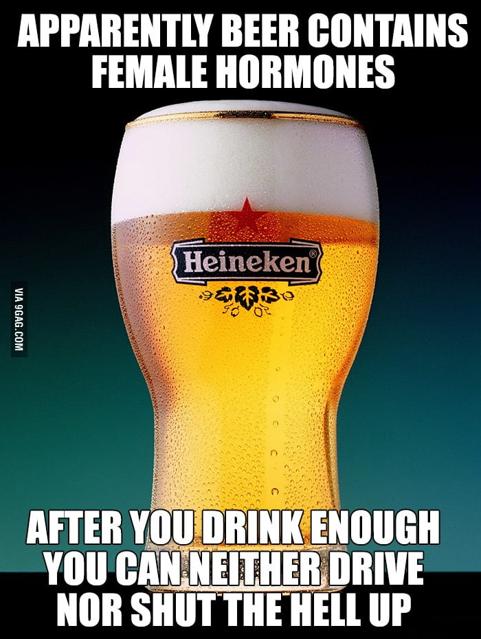 Female hormones in beer