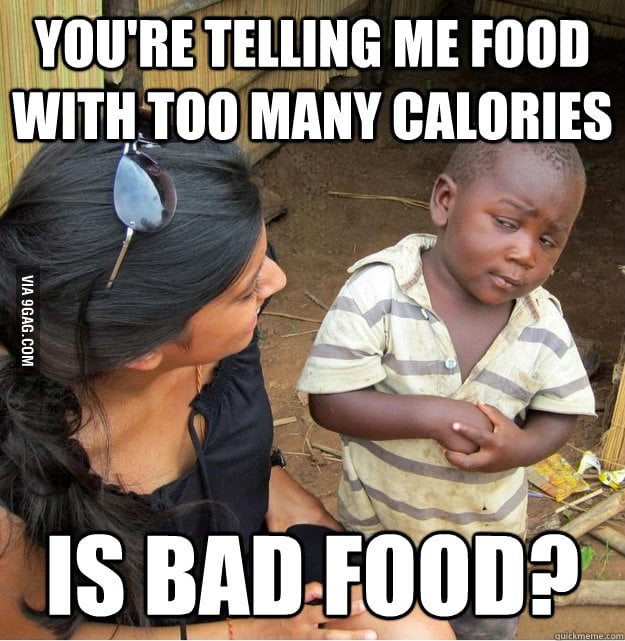 Skeptical Third World Kid on Calories