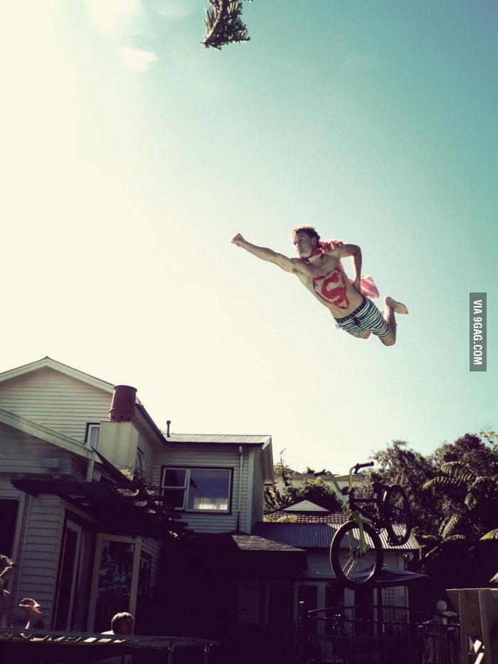 Bike + Jump = Superman
