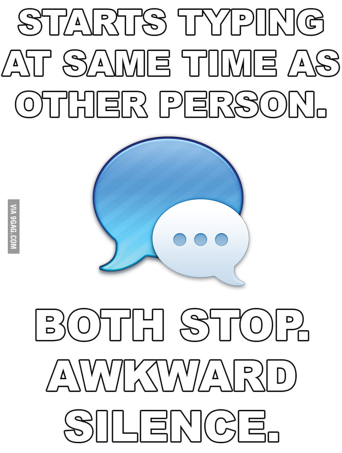 Awkward Silence in Texting