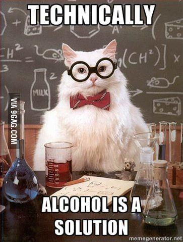 Chemistry Cat on alcoh