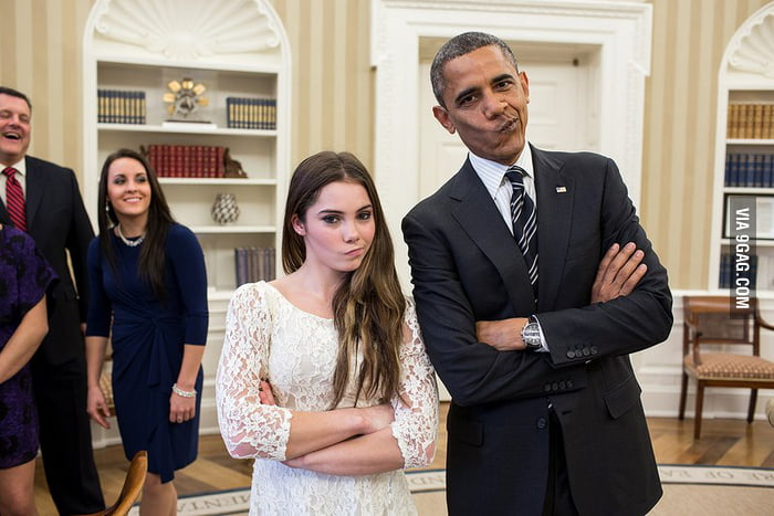 Obama & Cute McKayla