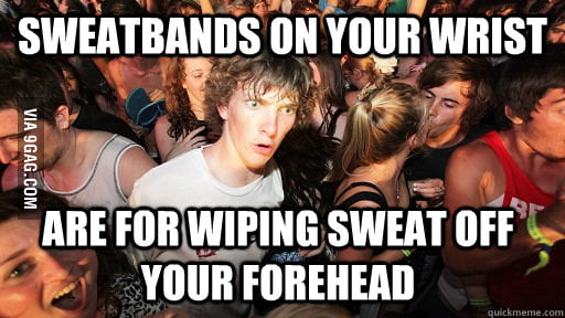 Sweatbands on your wrist