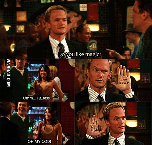 Barney being awesome