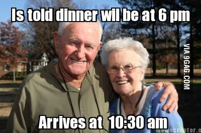 Grandparents on Thanksgiving.